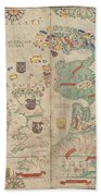 Atlas Miller Nautical Atlas Beach Towel