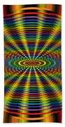 Atomic Rainbow Beach Towel
