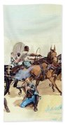 Attack On The Supply Train 1885 Beach Towel