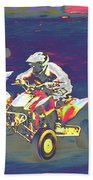 Atv Racing Beach Towel