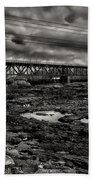 Auburn Lewiston Railway Bridge Beach Towel