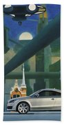 Audi Gaudi - The Retro Of The Future Beach Towel
