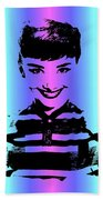 Audrey Hepburn Art Beach Towel