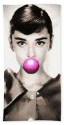 Audrey Hepburn Bubblegum Beach Sheet