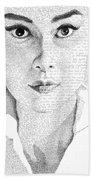 Audrey Hepburn In Her Own Words Beach Sheet