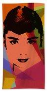 Audrey Hepburn Pop Art 1 Beach Towel