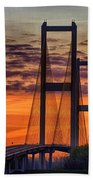 Audubon Bridge Sunrise Beach Towel