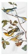 Audubon: Warbler, (1827-1838) Beach Towel