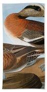 Audubon: Wigeon, 1827-38 Beach Towel