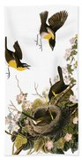 Audubon: Yellow Chat, (1827-38) Beach Towel