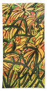 August Floral Beach Towel