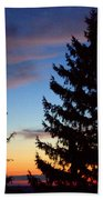 August Pine Clouds Beach Towel