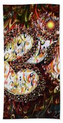 Aum - Cosmic Vibrations  Beach Towel