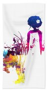 Aurora Flowers Beach Towel