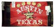 Austin Live Music Beach Sheet
