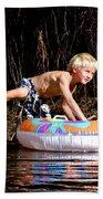 Austin Takes A Ride Beach Towel