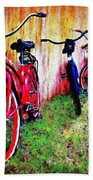 Austin Texas Bikes  -- Original Painting Beach Towel