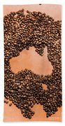Australia Cafe Artwork Beach Towel