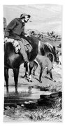 Australia: Cowboys, 1864 Beach Towel