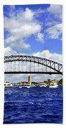 Australian Day Is A Party Day On Sydney Harbour  Beach Towel