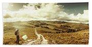 Australian Rural Panoramic Landscape Beach Sheet