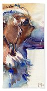 Australian Shepherd Puppy Beach Towel