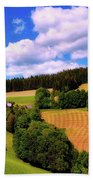Austrian Rural Forest Vista Beach Towel