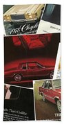 Automotive Ad's Collage 2 Beach Towel