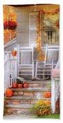 Autumn - House - My Aunts Porch Beach Towel