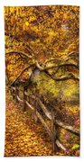 Autumn - Landscape - Country Road Side Beach Towel