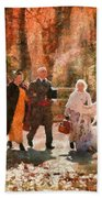 Autumn - People - A Walk In The Countryside Beach Towel