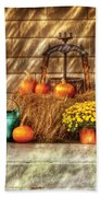 Autumn - Pumpkin - A Still Life With Pumpkins Beach Towel