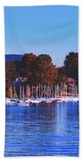 Autumn Along Lake Candlewood - Connecticut Beach Towel