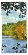 Autumn Along The New River - Bisset Park - Radford Virginia Beach Towel