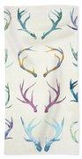 Autumn Antlers Beach Towel