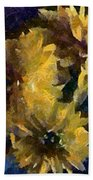 Autumn Asters Beach Towel