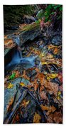Autumn At A Mountain Stream Beach Sheet