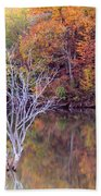 Autumn At Alum Creek Beach Towel