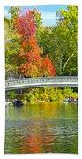 Autumn At Bow Bridge Central Park Beach Towel
