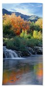 212m47-autumn At Cascade Springs  Beach Towel