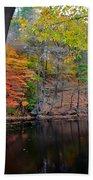 Autumn At Echo Bridge Beach Towel