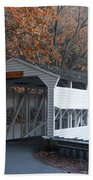 Autumn At Knox Covered Bridge In Valley Forge Beach Towel by Bill Cannon