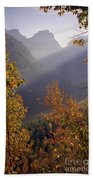 Autumn At Logan Pass Beach Towel