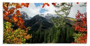 Autumn At String Lake Beach Towel