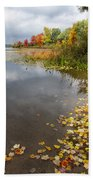 Autumn At The Lake In Nh Beach Towel