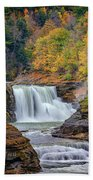 Autumn At The Lower Falls Beach Towel