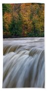 Autumn At The Middle Falls  Beach Towel