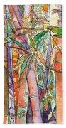 Autumn Bamboo Beach Towel by Marionette Taboniar