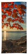 Autumn Bay Near Shovel Point Beach Towel
