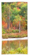 Autumn Beaver Pond Beach Towel